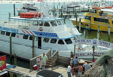 Ajs in destin fl has dolphin cruises fishing water for Destin party boat fishing