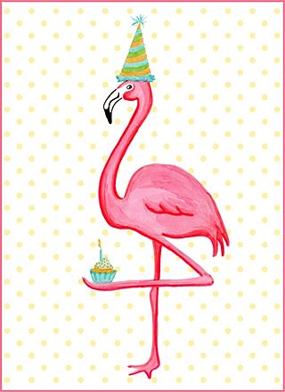 amelie legault pink flamingo illustration de flamants roses. Black Bedroom Furniture Sets. Home Design Ideas