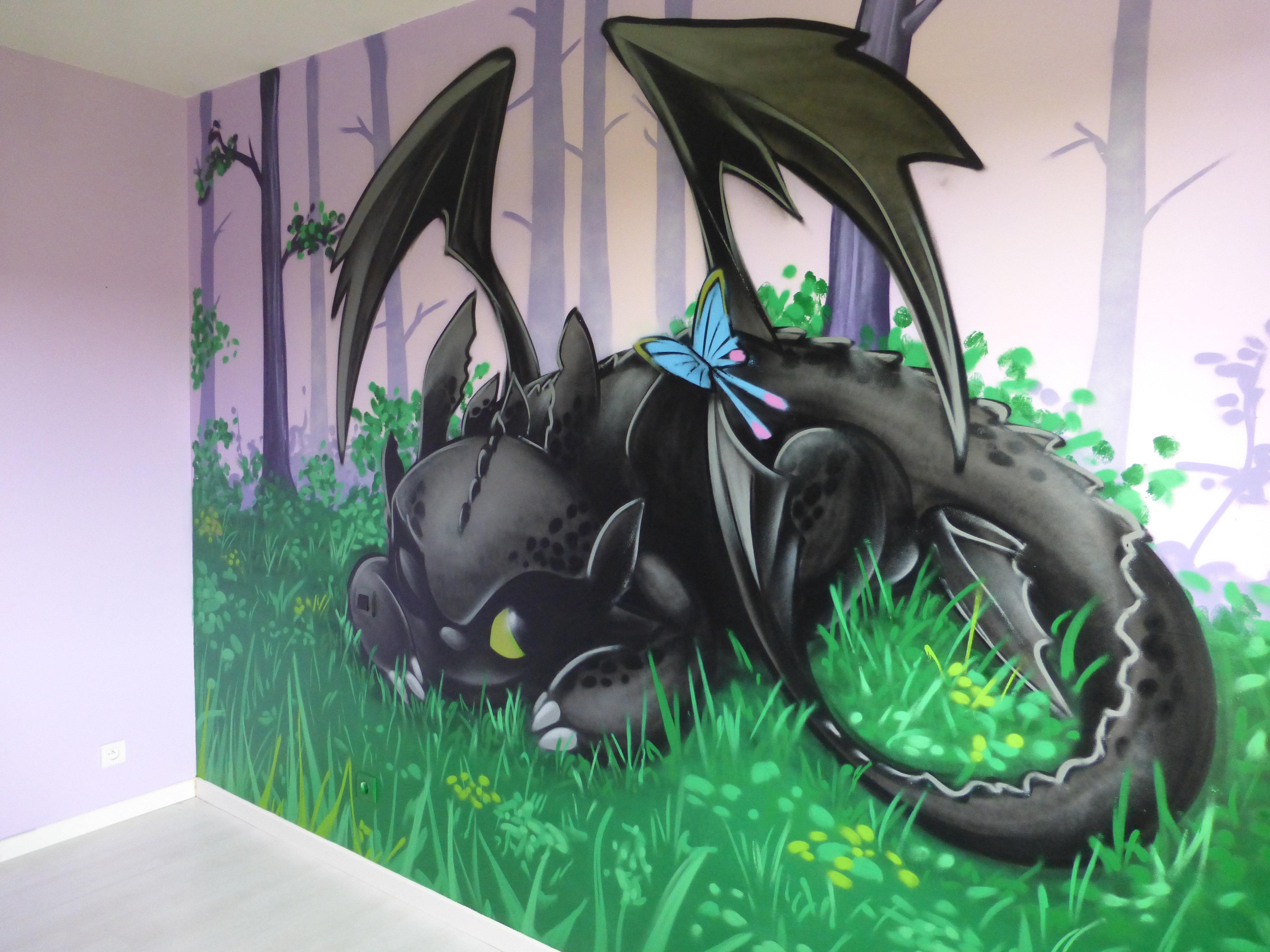 decom deco graff  chambre dragon krokmou cazeres 2 jpg