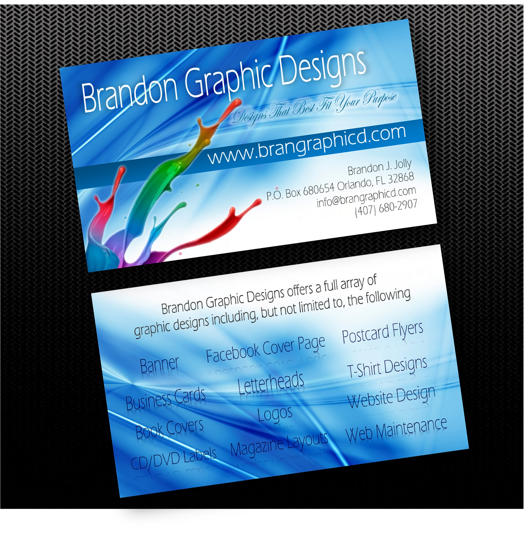 Brandon graphic designs business cards reheart Image collections