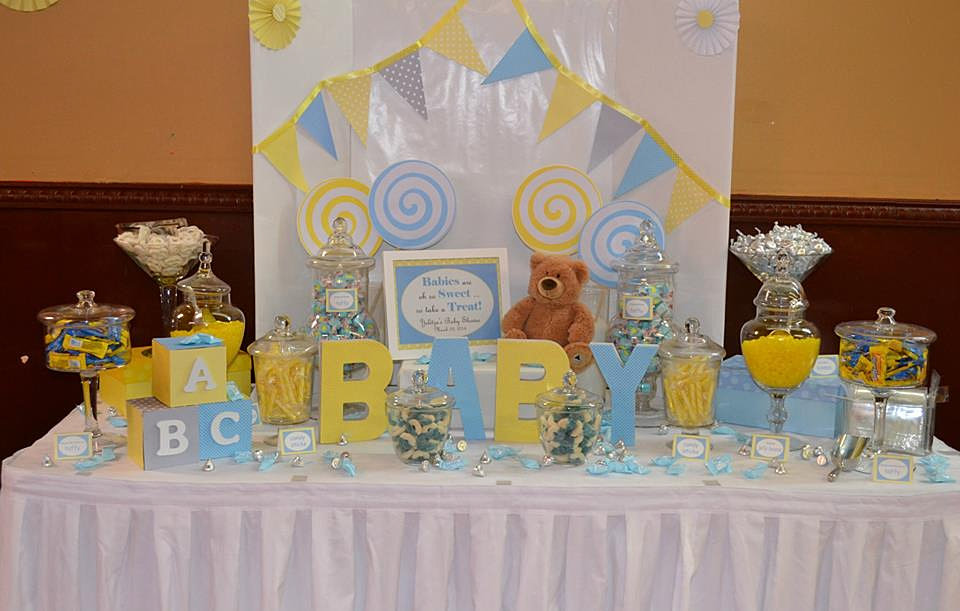 candy buffets new york candy buffet baby shower blue and yellow