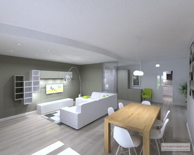 Progettare Soggiorno: Progetto salotto moderno soggiorno divano ad ...