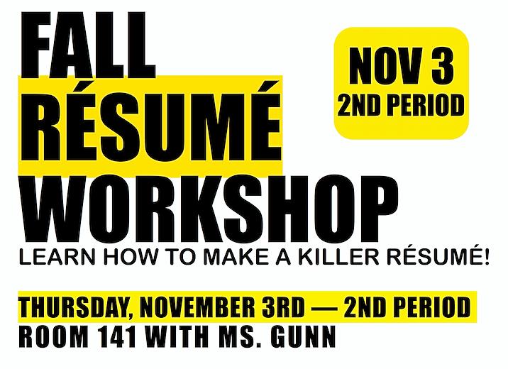 hudsonhslt sign up now for the rsum workshop - Resume Workshop