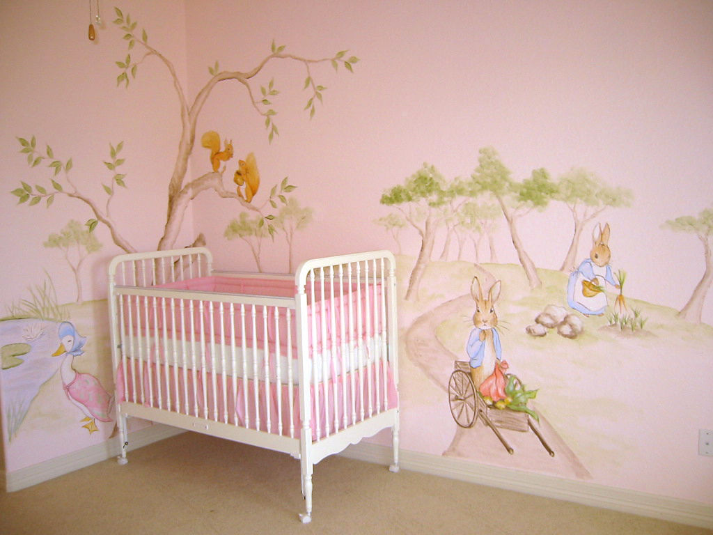 Baby wall mural image collections home wall decoration ideas handpainted murals in houston mural artist in houston muralist peter rabbit nurseryg amipublicfo image collections amipublicfo Image collections