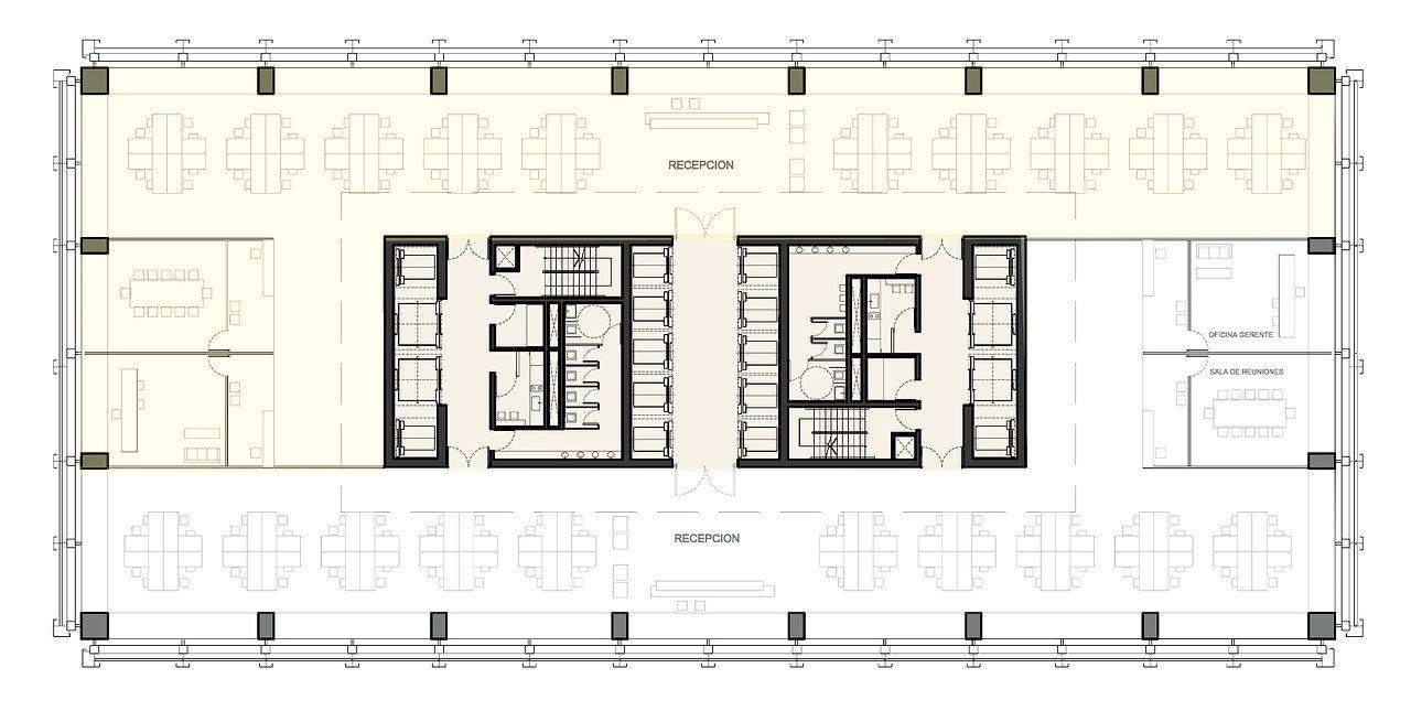 Natalia alti for Planta arquitectonica de una oficina