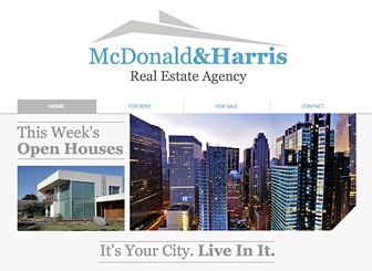 Realty Site Template - Take your real estate firm to the next level with this sharp website template. Create a photo gallery to exhibit your properties and customize the text to advertise your services. Start editing to craft a polished website that stands out from the crowd!