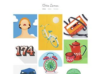 Portfólio de Ilustrador Template - Mantenha a coisa simples e deixe que as suas ilustrações falem por si mesmas com este template elegante e minimalista. Faça upload do seu trabalho, adicione texto, e personalize as cores e as fontes para fazer seu site tão criativo quanto você. Comece a criar agora!