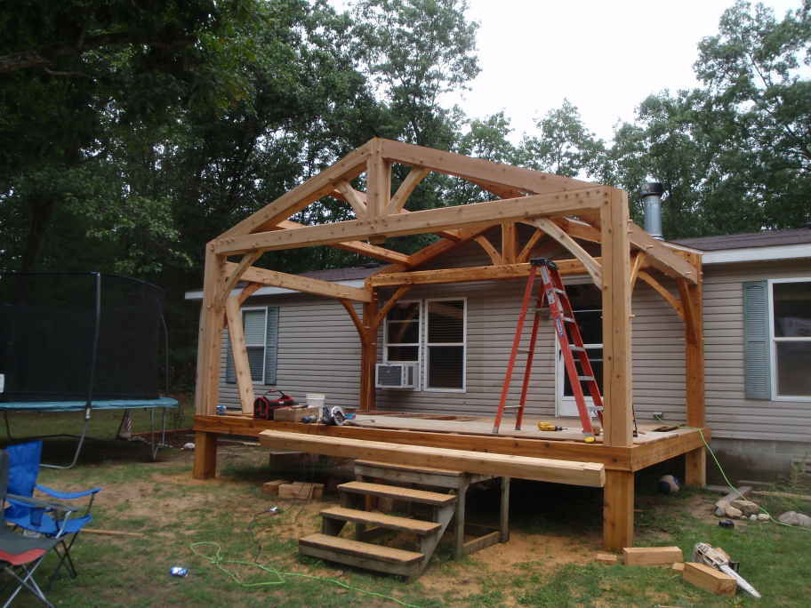 Timberframepicturescom created by for Timber frame porch designs