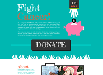 Fundraising Template - Take your cause online with this fun and inspirational one-page template. Customize the text and add photos to tell the story of your charity or nonprofit organization. Start editing to raise funds and encourage awareness!