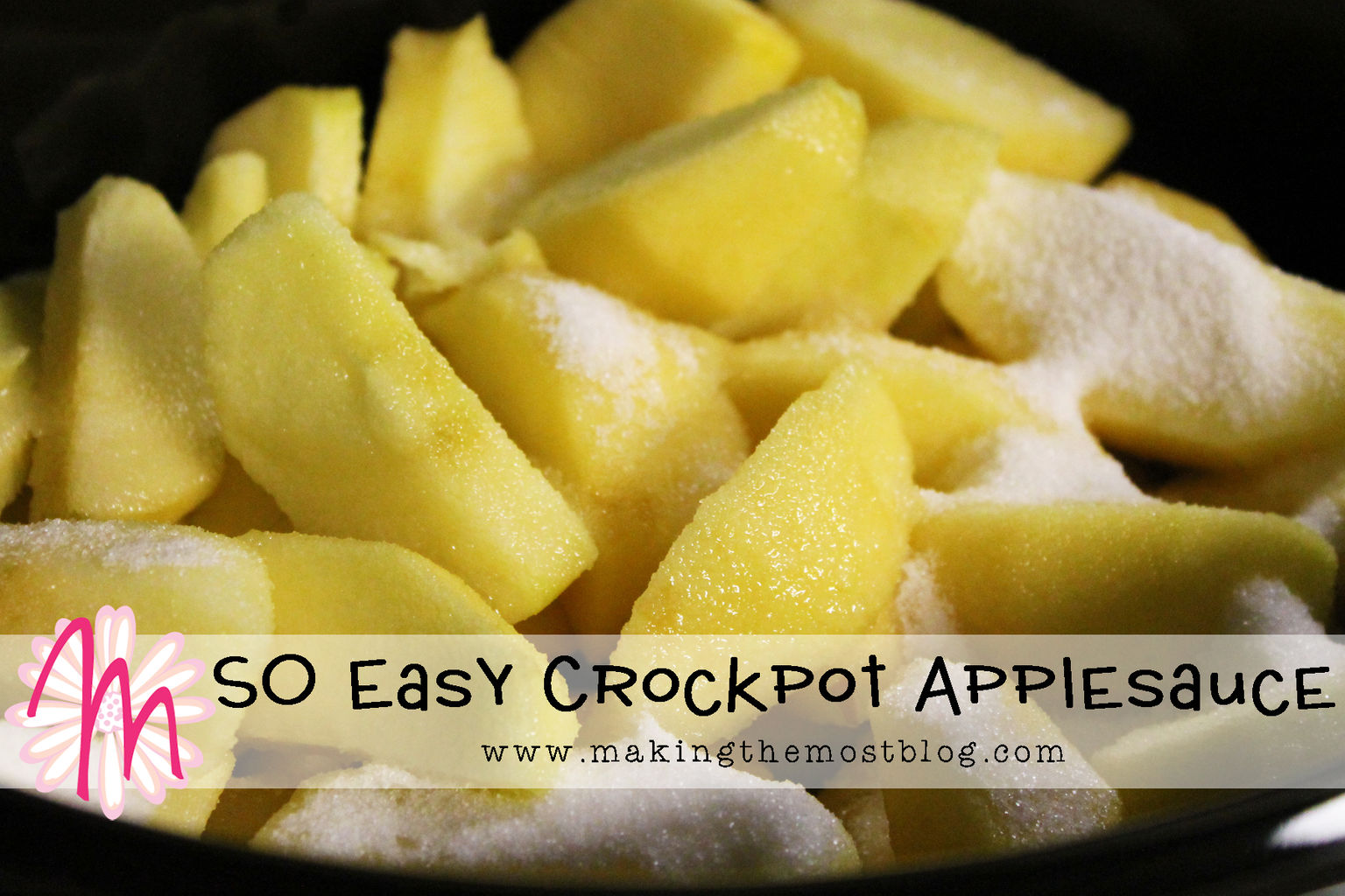 SO Easy Crockpot Applesauce | Making the Most Blog