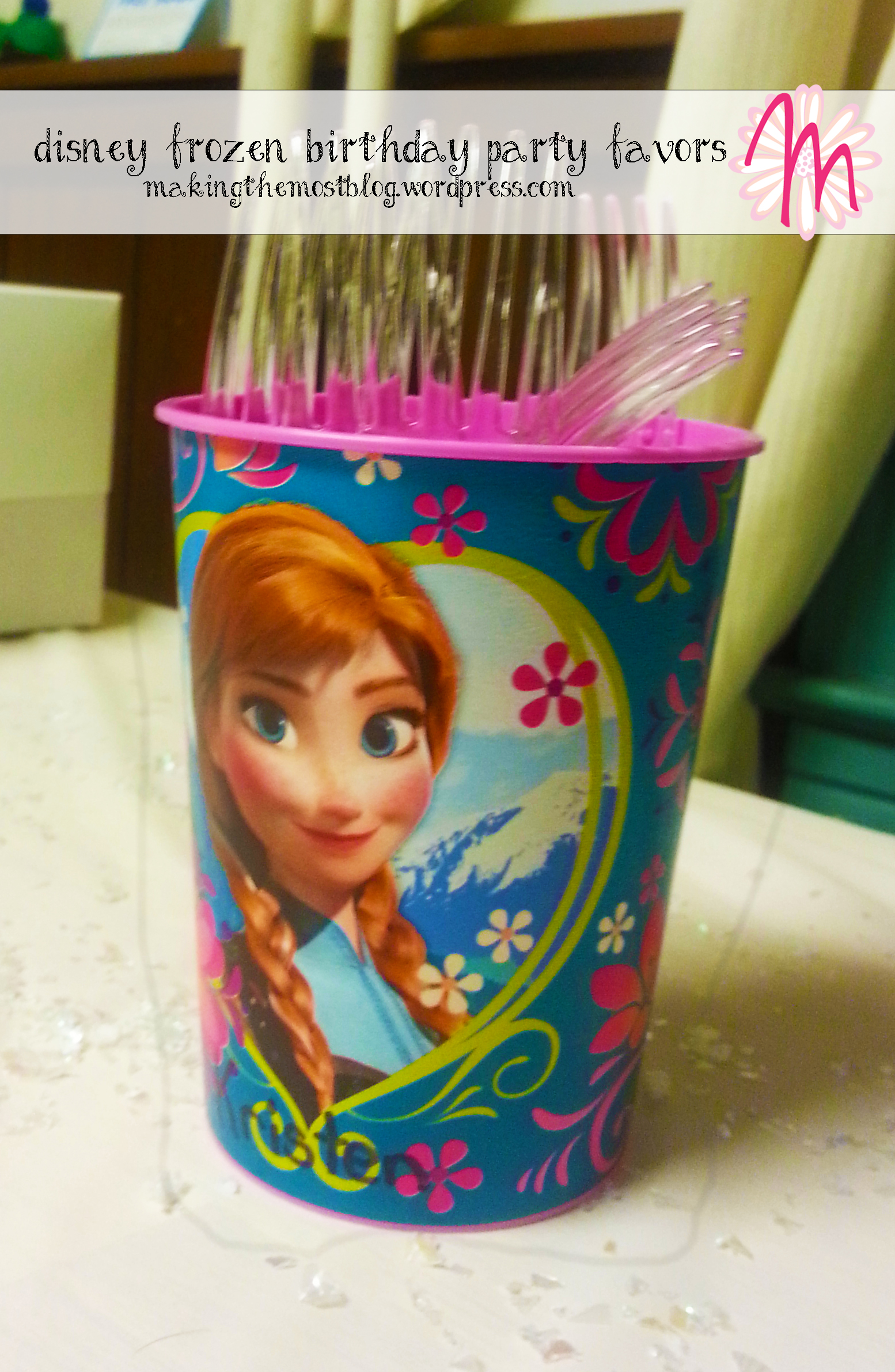 Cups | Disney Frozen Birthday | Making the Most Blog