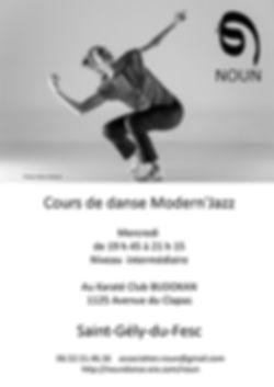 Cours de danse Modern'Jazz à St Gély du Fesc (34) ave Sylvie Klinger et l'association Noun Danse