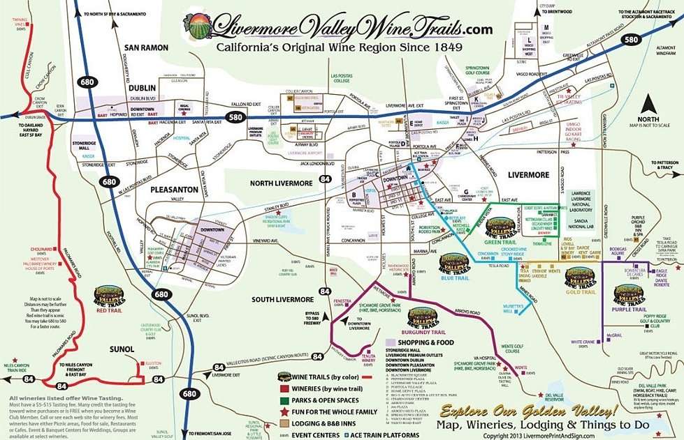 Livermore Valley Wine Trails Guide And Map