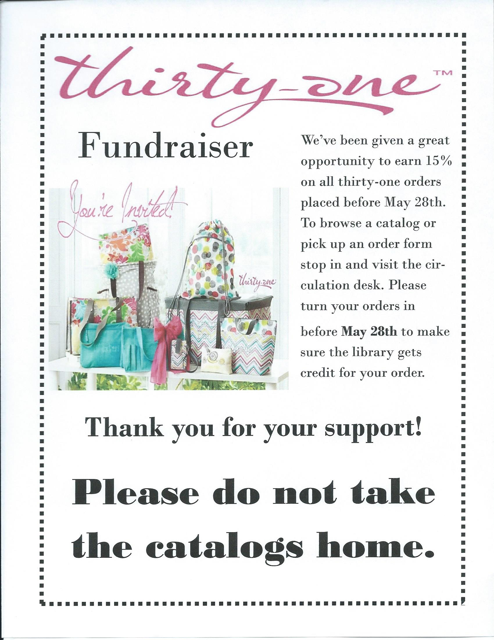 Thirty-one Fundraiser | Evans City Public Library