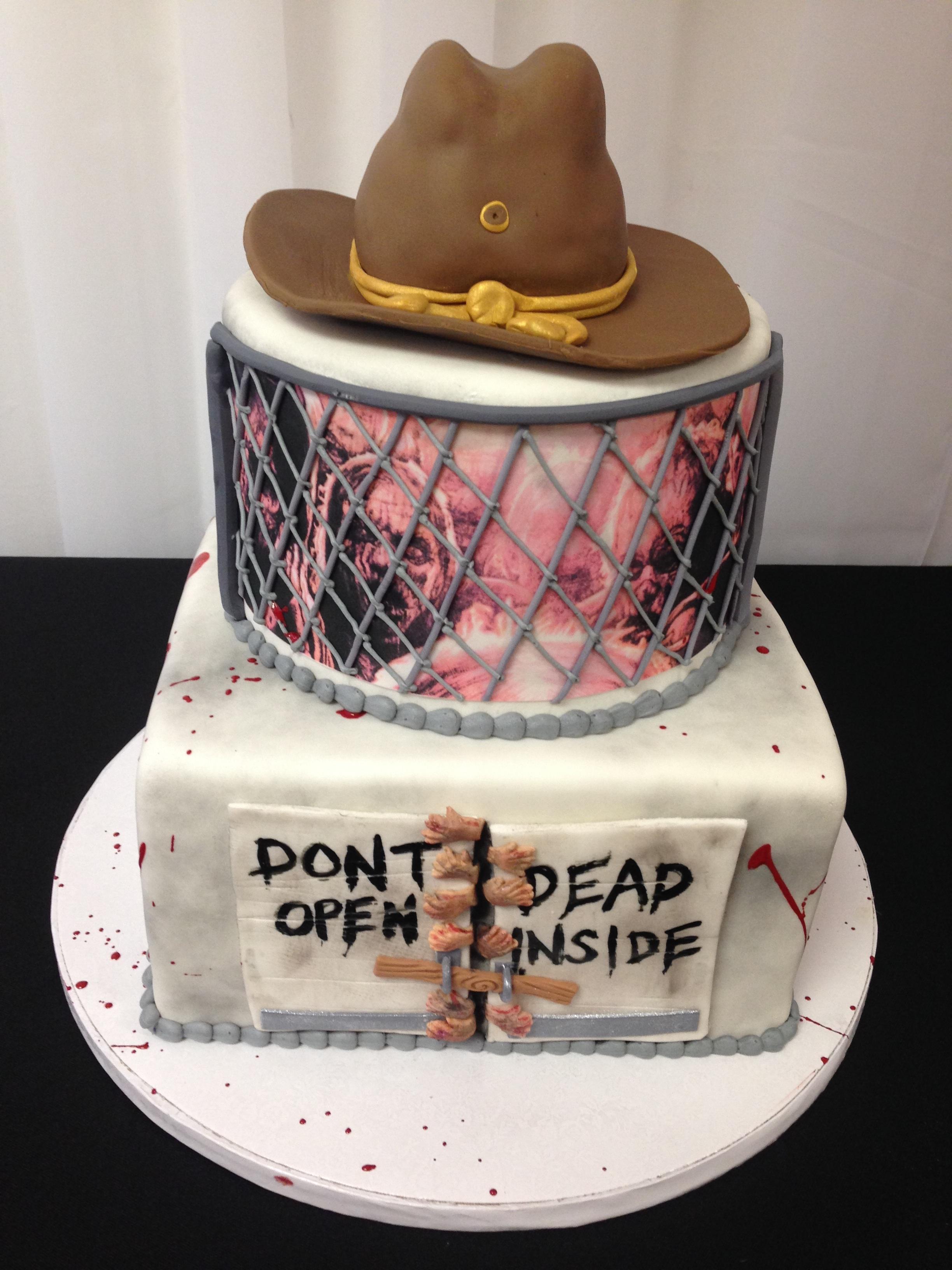 Sugar Refined Custom Wedding Cakes   Walking Dead Zombie birthday cake