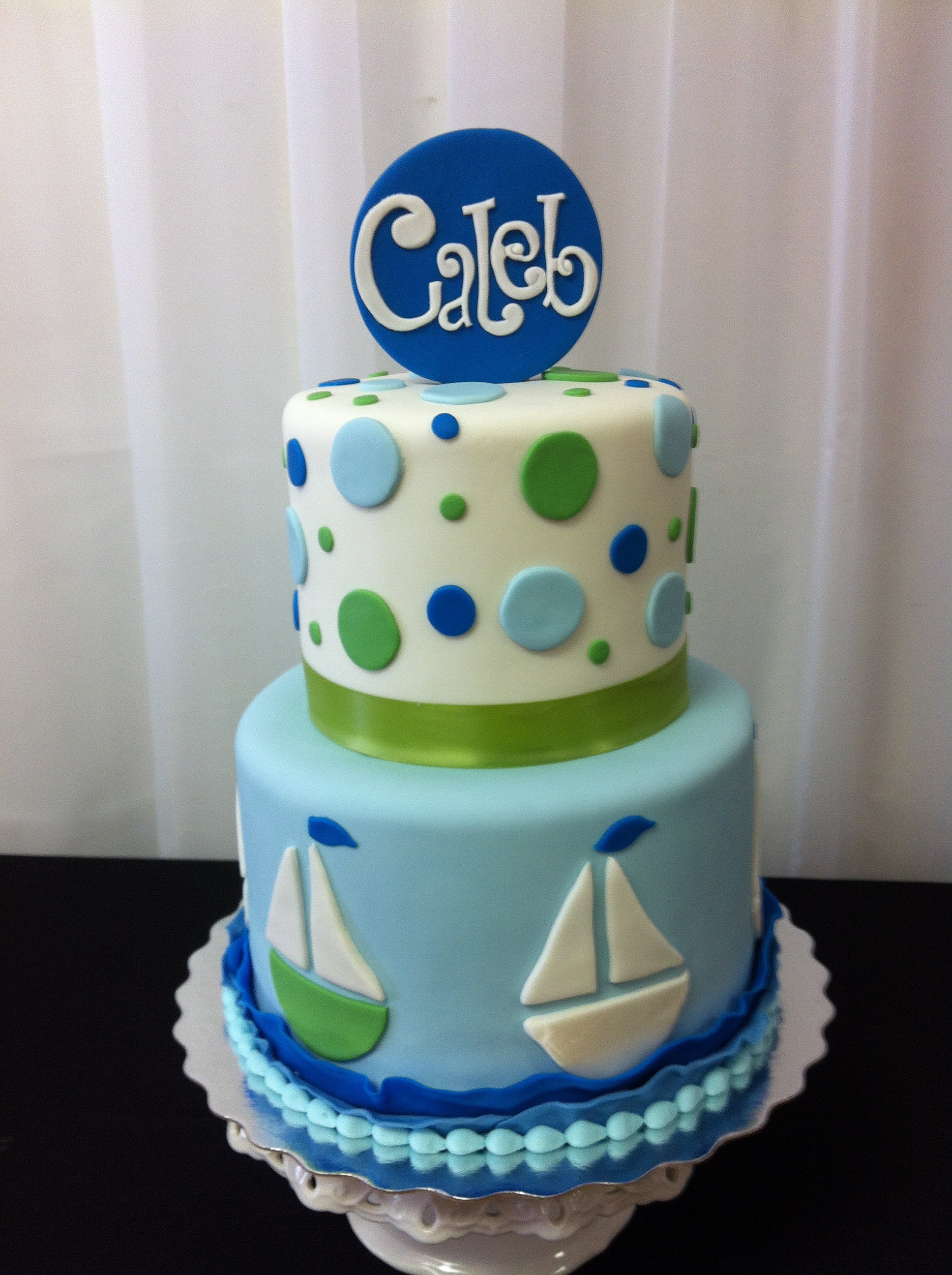 sugar refined custom wedding cakes nautical baby shower cake