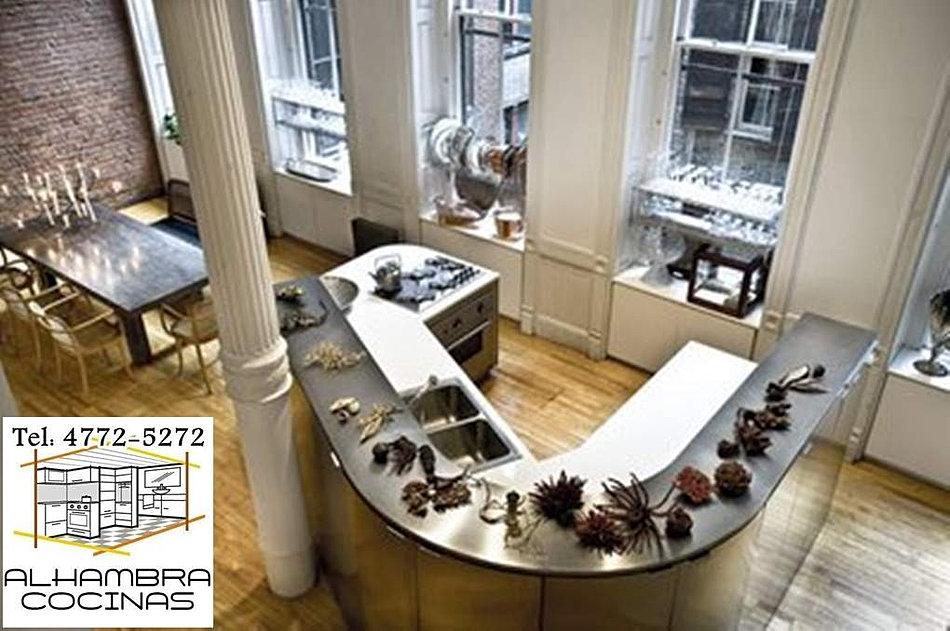 Alhambra muebles de cocina bajomesada alacenas a medida for Isletas para cocinas