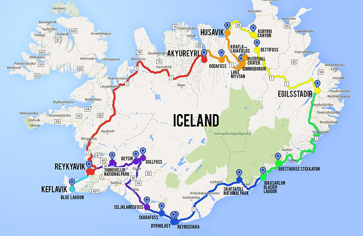 Iceland Map Travel – Iceland Tourist Map