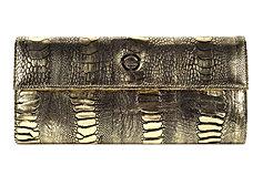 Gold African Ostrich Leg Leela