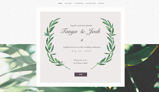 Elegant bröllopsinbjudan