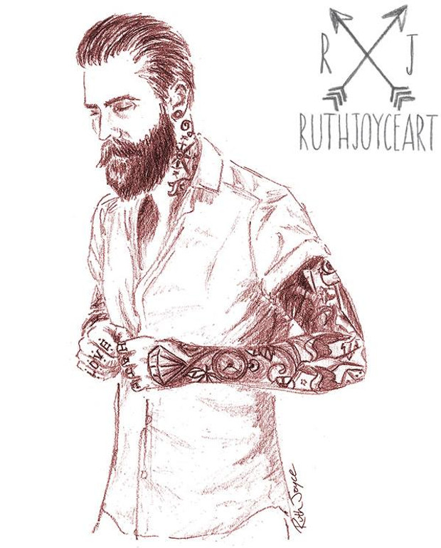 How to draw tattooed people ruth joyce illustrations for How to draw a cool person