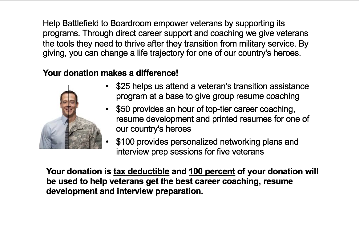 free resume help for veterans give
