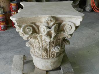 The Greek Corinthian Stone Table Base