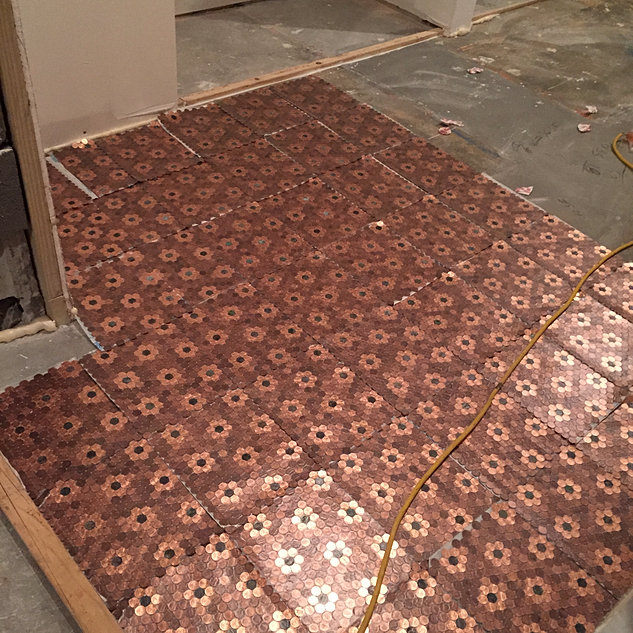 Kvs mint coin tile gallery for Floor of pennies