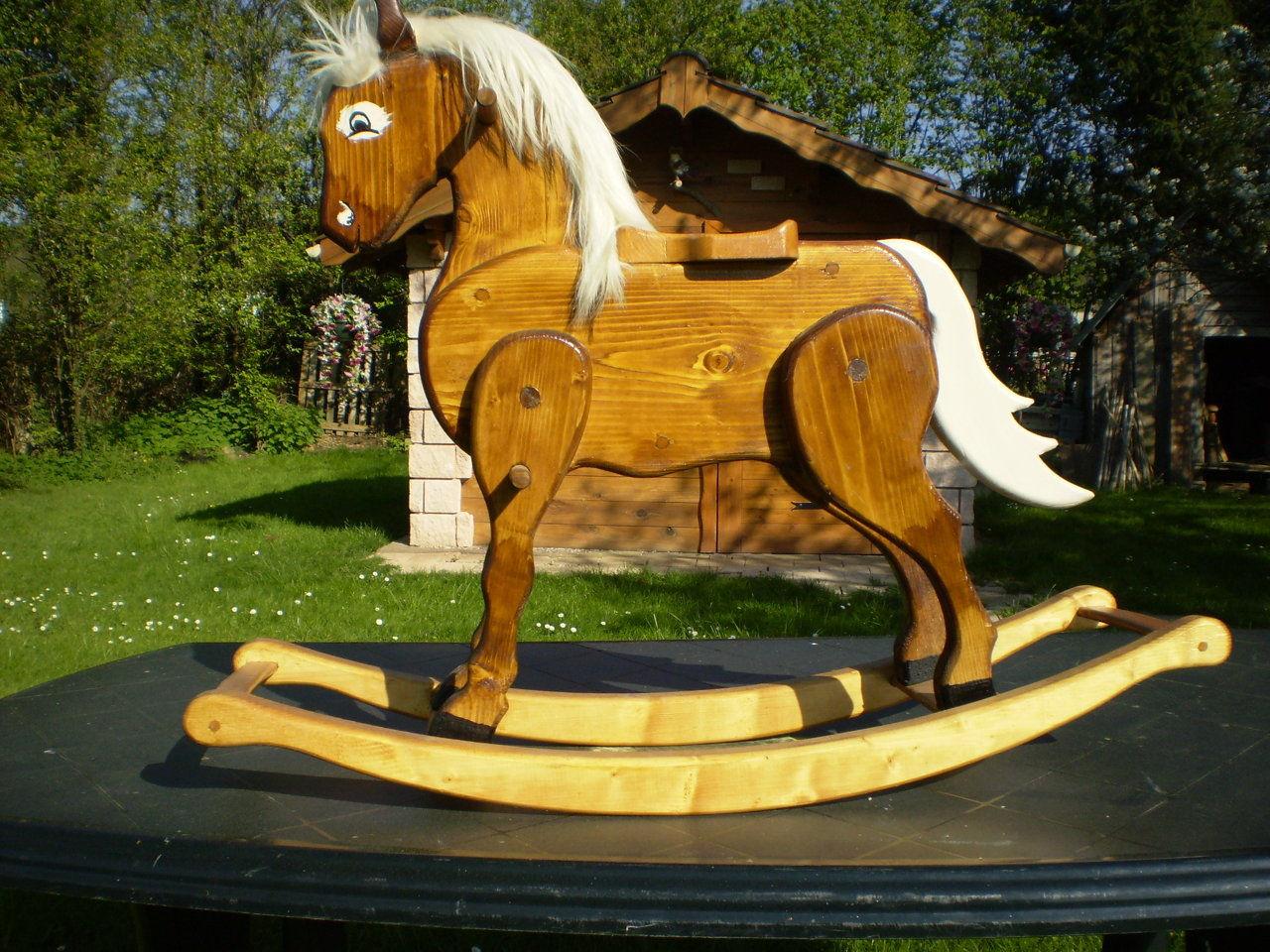art du bois anes et chevaux a bascule. Black Bedroom Furniture Sets. Home Design Ideas