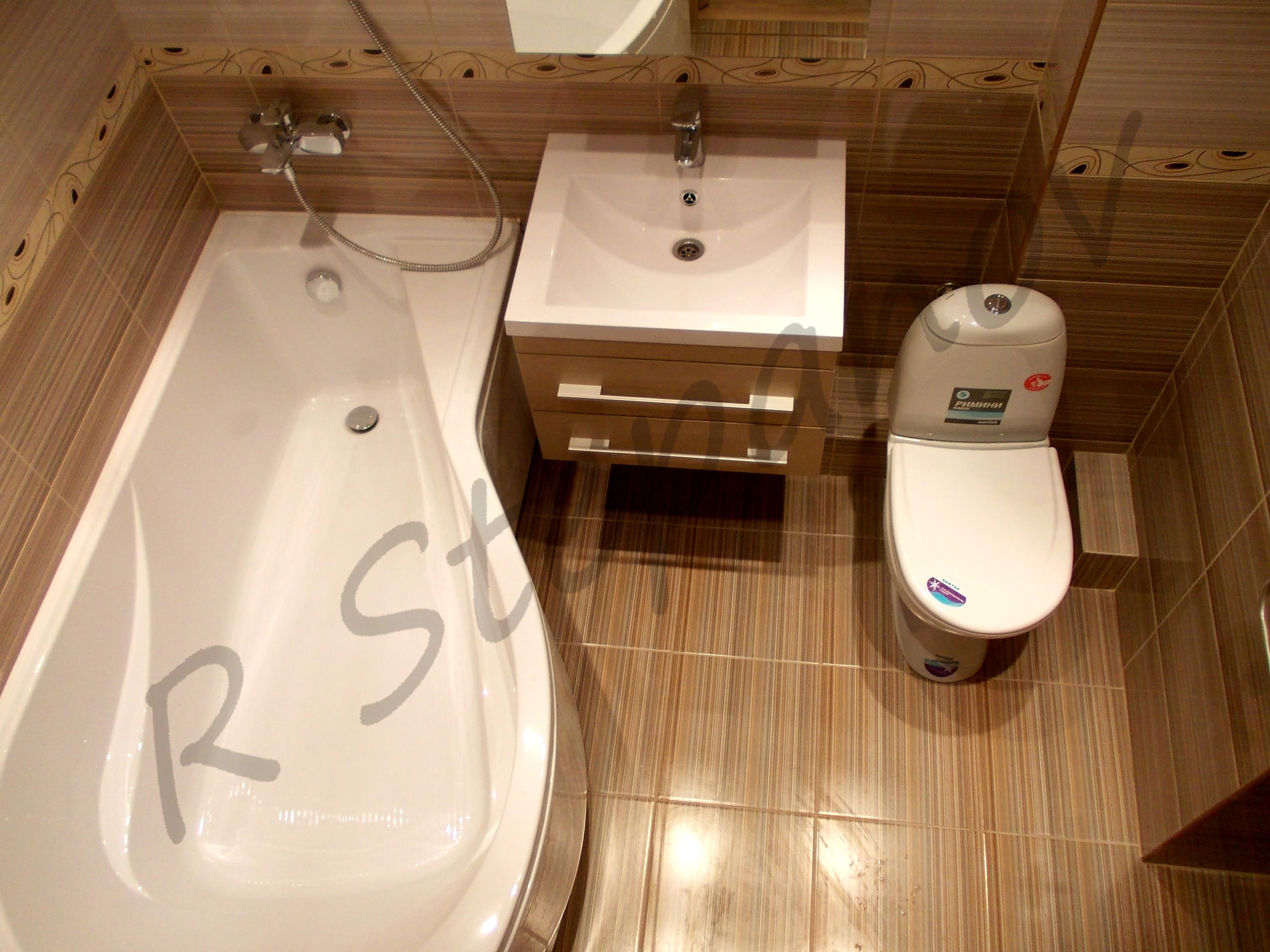 Совмещенные туалет с ванной ремонт