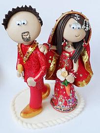 Bride Pulling Groom By Leg Cake Topper