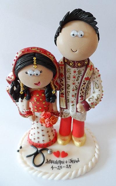 Asian Bride Cake Topper