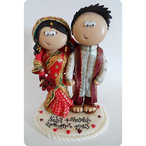 Personalised Asian Wedding Cake Toppers