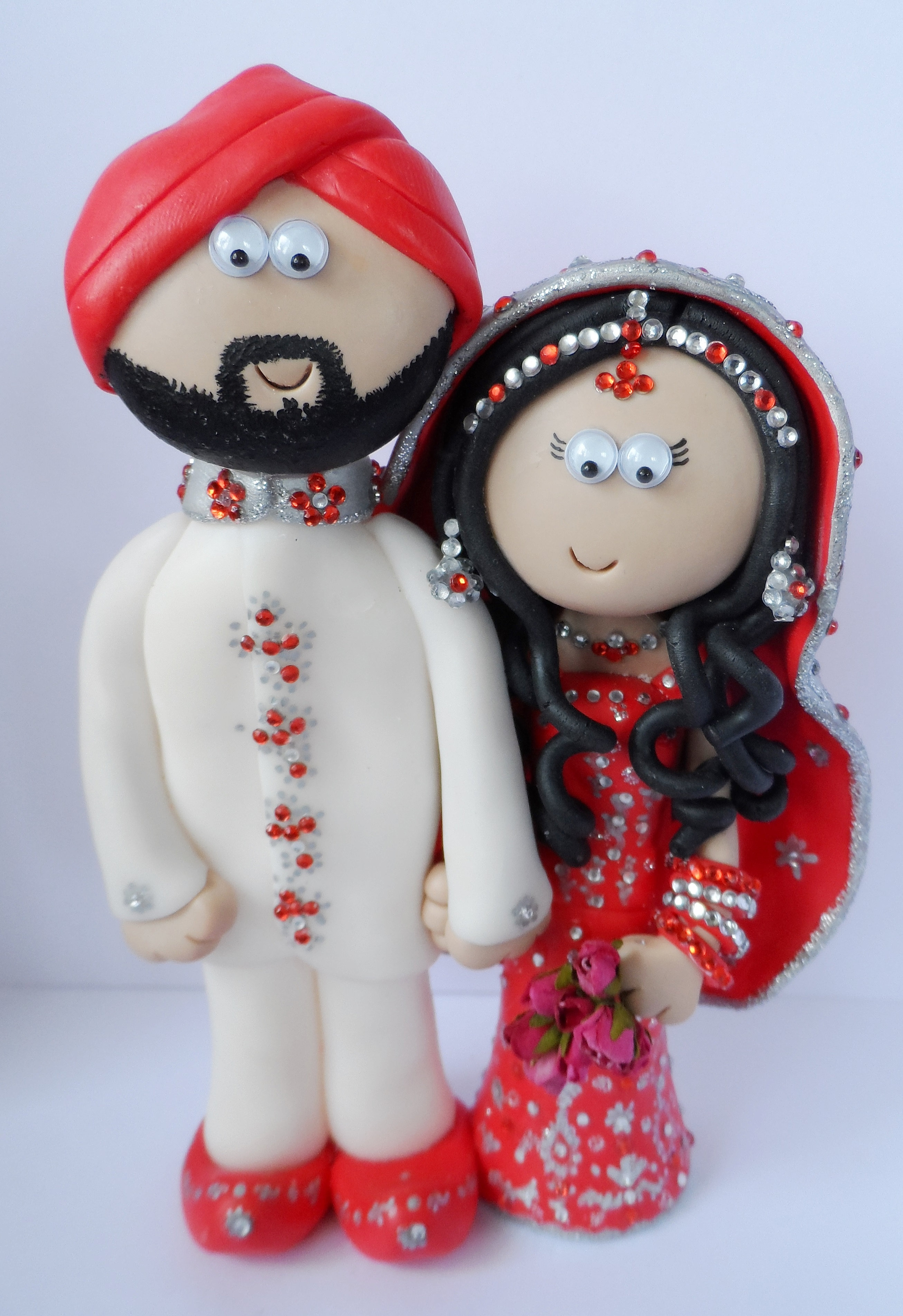 Indian Wedding Couple Cake Toppers