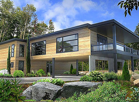Leed platinum certified prefab modular homes quebec for Leed cabins