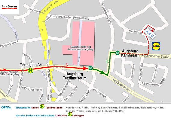 Anfahrtsskizze AAU Straßenbahn linie 6.j
