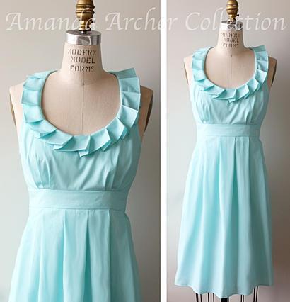 Amanda Archer Pleated Collar Dress
