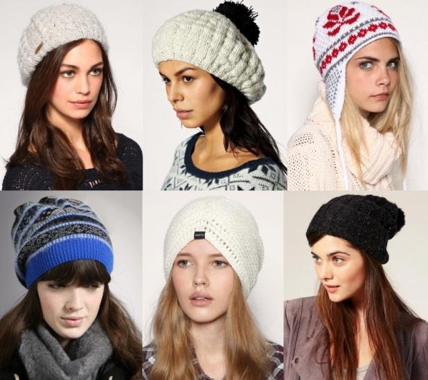 Вязаные шапки зима 2014 2015 своими руками