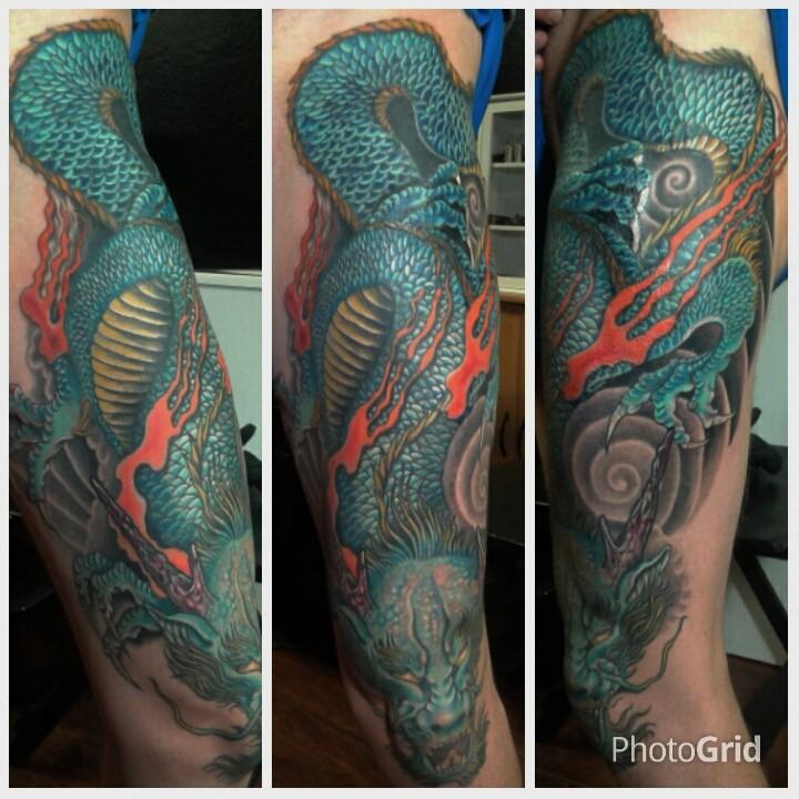 Megavision El Drako Tattoo Leg Dragon