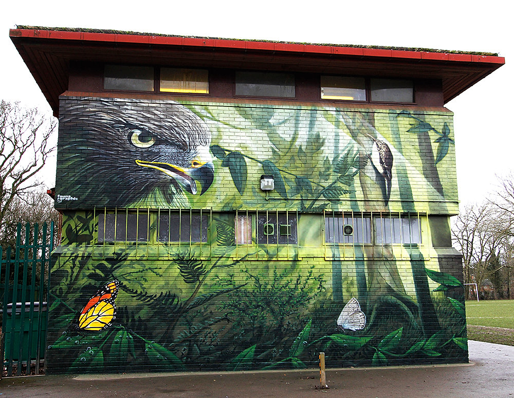 The mural artists nature themed mural for Mural nature