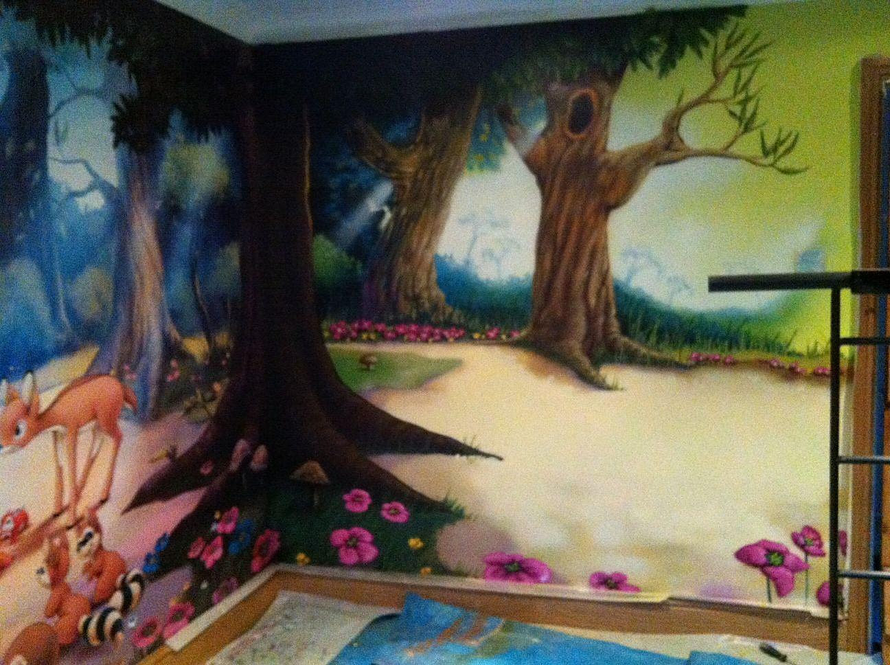 The mural artists enchanted forest mural for Enchanted forest mural