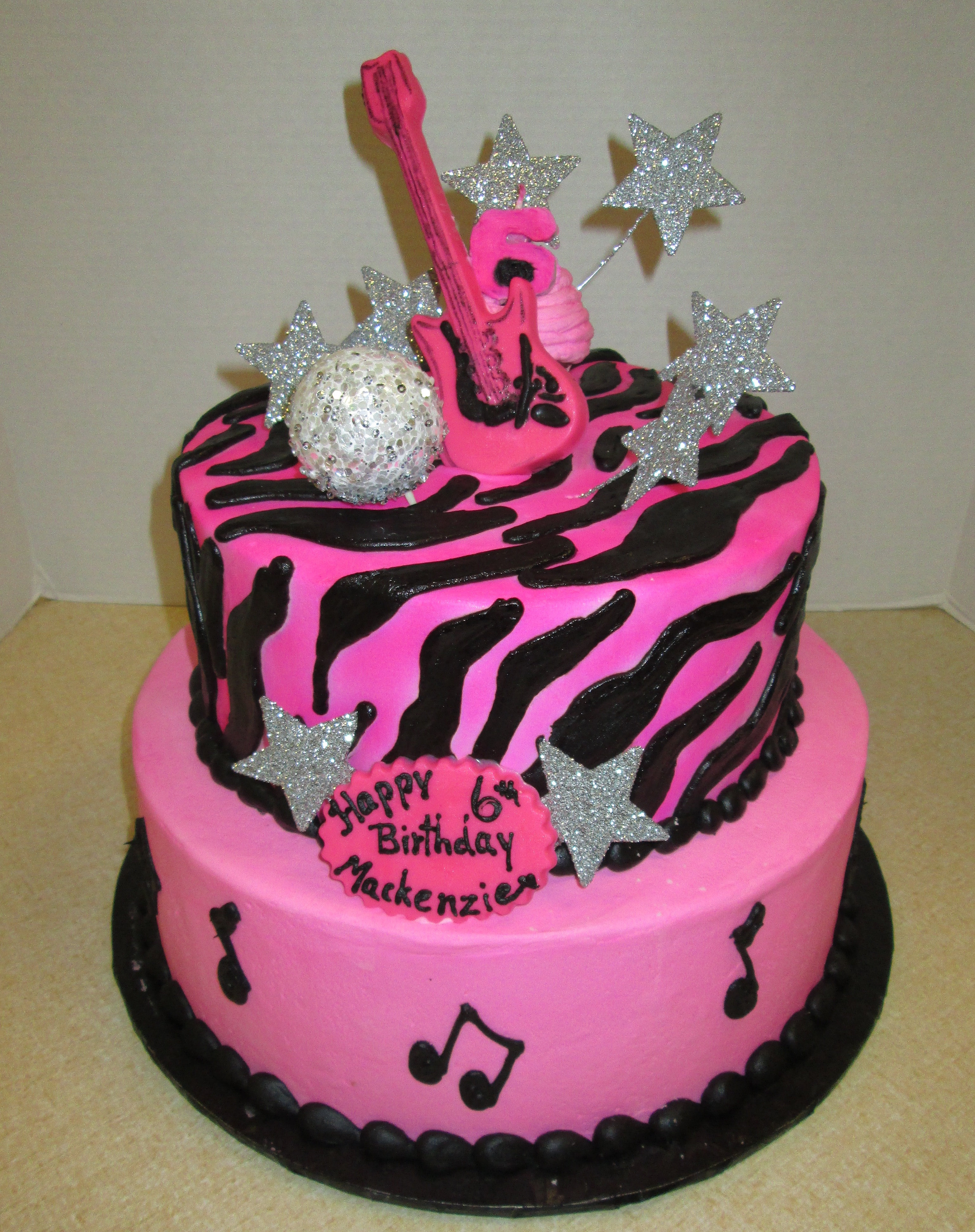 Barbie Rockstar Birthday Cake