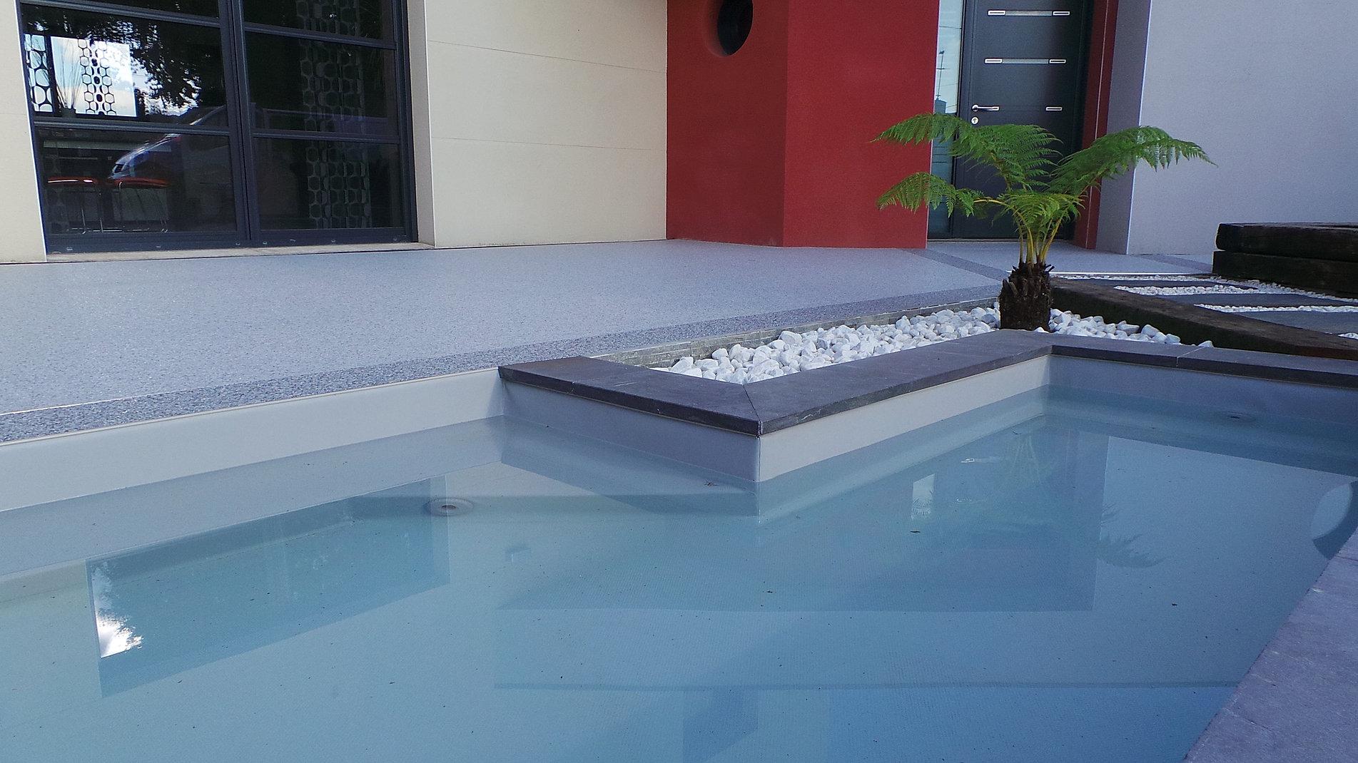 gravier resine revetement sol exterieur resine 3d matieres. Black Bedroom Furniture Sets. Home Design Ideas