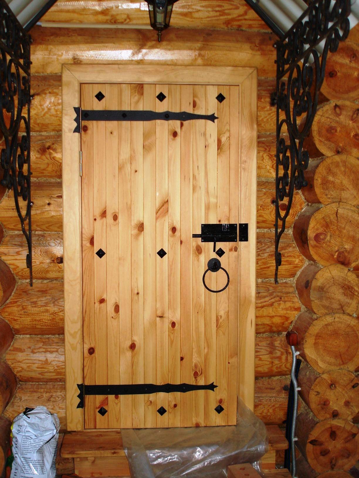 Входные деревянные двери как сделать