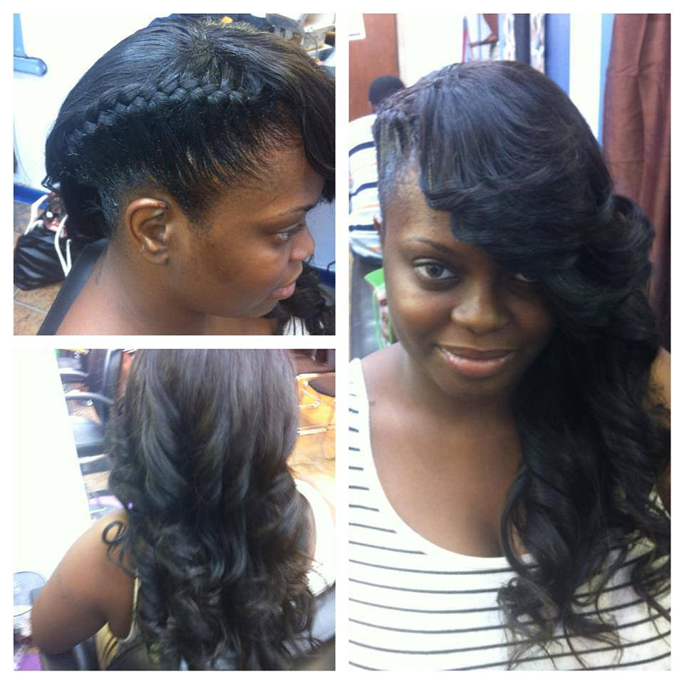 ... York , Crochet Braids in New York PARTIAL SEW IN WITH FRENCH BRAID