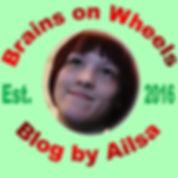 Brains on Wheels logo.