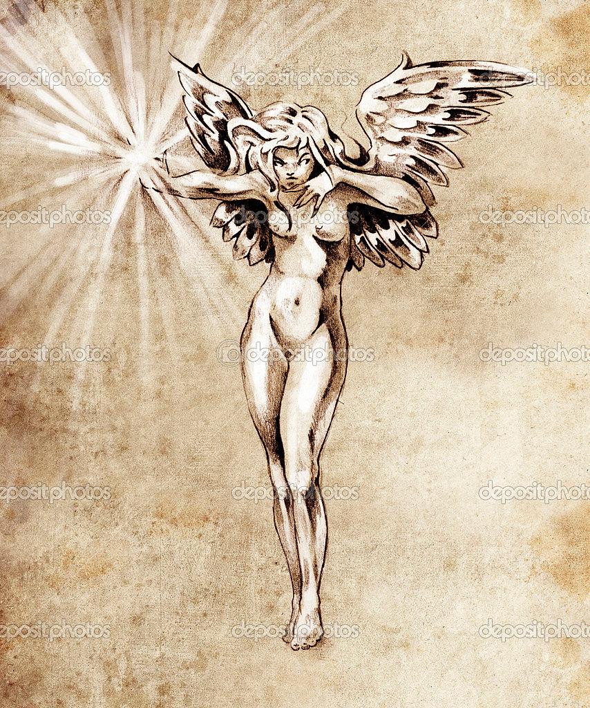 Nude fairies get penciled erotic tube