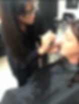 Cheryl Klukowski- Stevenson in action at Chocolate Blone Hair Salon in Chippenham