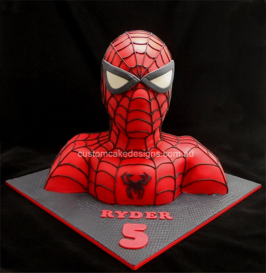 Birthday Cake Designs Spiderman : customcakedesigns Spiderman 3D Torso Cake
