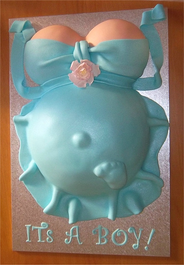 Baby Shower Belly Cakes For Boys